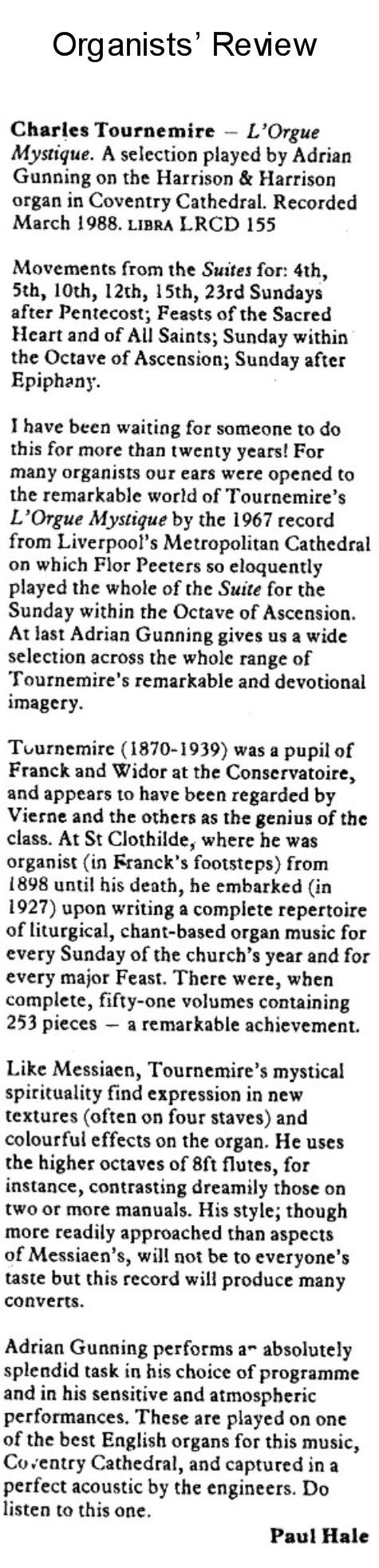 Adrian Gunning – Organist